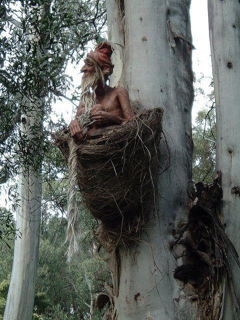 bruno's sculpture garden set in australian bush at marysville, victoria, is beautiful