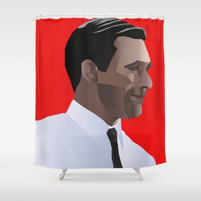 Shower with Don Draper with this Mad Men Shower Curtain