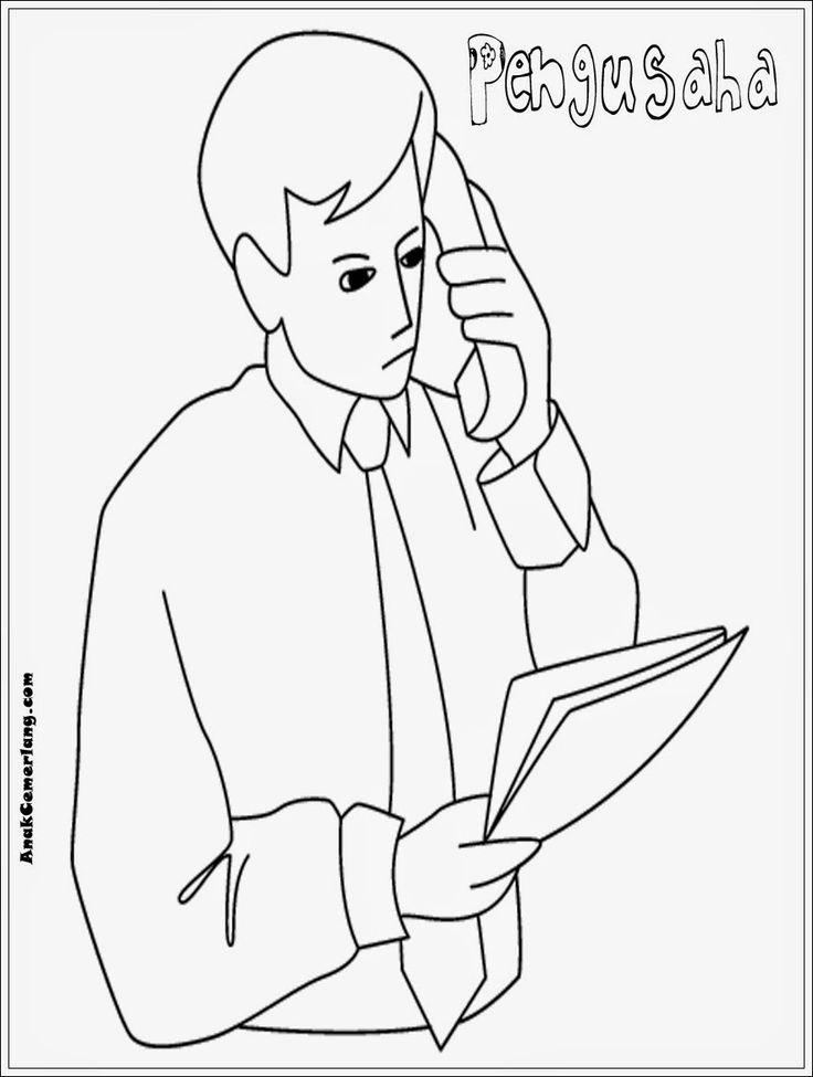 gambar mewarnai profesi pengusaha