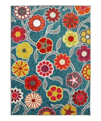 Flower Medallions Kaleidoscope Rug