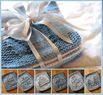 Knitted cloths (Christmas theme). ТЕНЕВОЕ ВЯЗАНИЕ, ЗИМНИЕ УЗОРЫ.     Данные узоры подходят для вязания пледов, подушек, прихваток для кухни и прочих идей, которые, в свою очередь, могут быть отличным подарком для др…