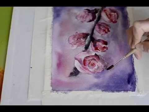 Видео мастер-класс: рисунок акварелью «Цветущая ветвь» - Ярмарка Мастеров - ручная работа, handmade