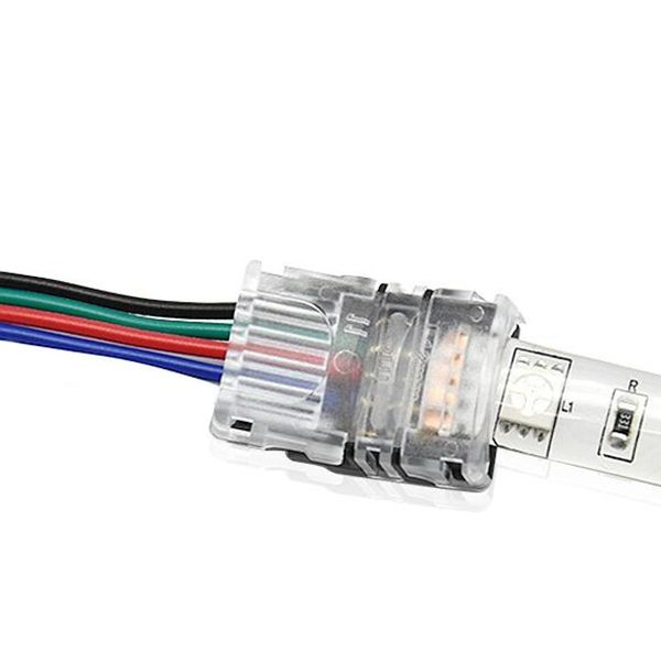 4pin 10mm Wire Connector For Waterproof Rgb Led Strip Light