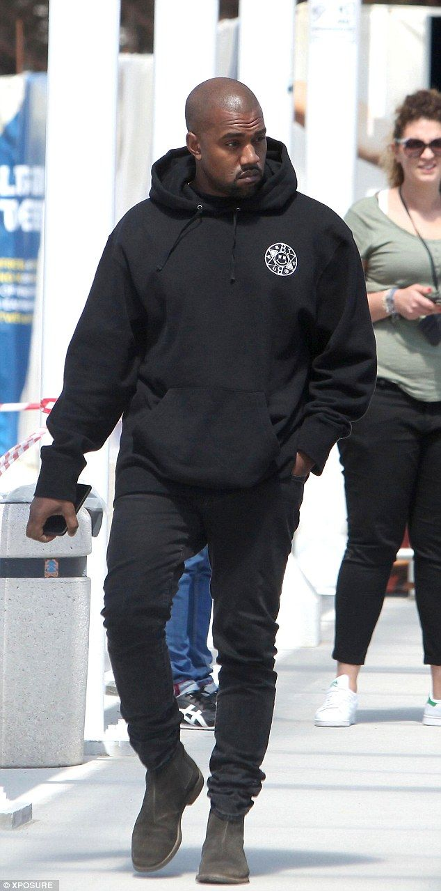 Kanye West wears his OWN fashion range for Venice Biennale outing #dailymail