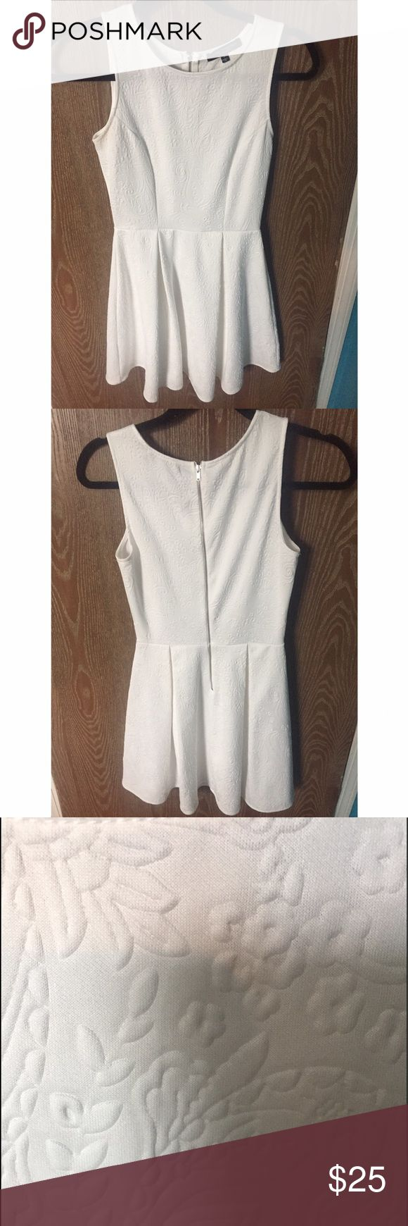 White dress Size small from Nordstrom worn twice let me know if you have any questions! Look in last pic to see the detail of the dress the brand is green envelope Nordstrom Dresses Mini
