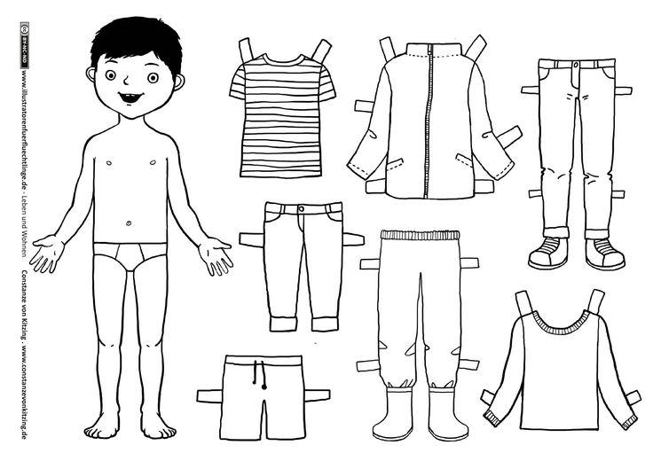 Download als PDF:Leben und Wohnen – Kleidung Anziehpuppe Junge – von Kitzing Link zur Animation als Video: www.illustratorenfuerfluechtlinge.de/kleidung-anziehpuppe-junge-4