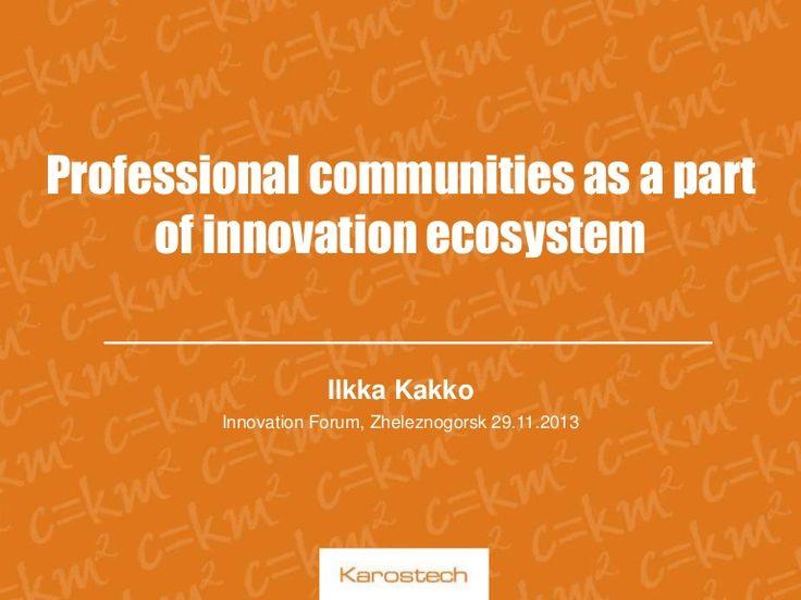 A presentation at Zheleznogorsk 3rd Innovation Forum 2013
