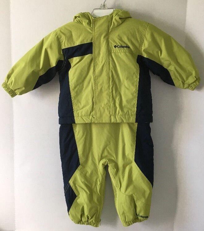 Columbia Snowsuit Bib Pants Coat Jacket Green Navy Size 18 Months Winter #Columbia #SnowsuitSkisuit