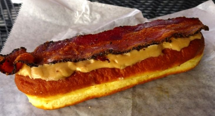 Maple-bacon bar at Rise Donuts and Biscuits in Durham, NC Triangle Dining