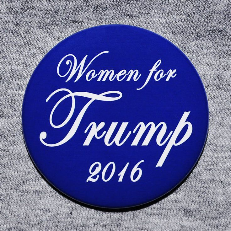 Donald Trump Women for Trump for President 2016 Button Pin Republican GOP Blue