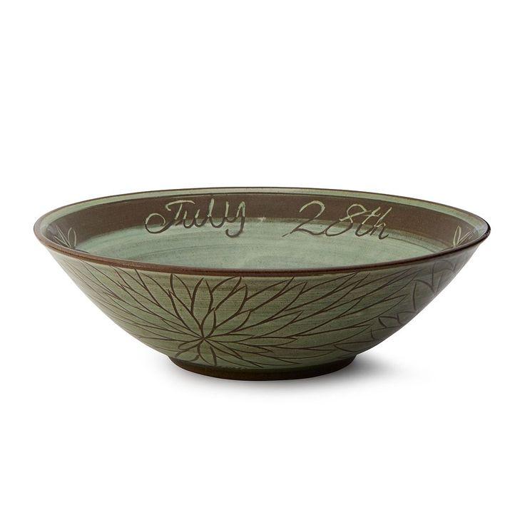 Wedding Attendants Gifts: Flower Carving Custom Wedding Bowl