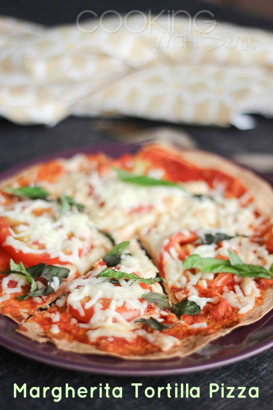 Under 15 mins: {Recipe} Margherita Tortilla Pizza – Step by Step Pictures