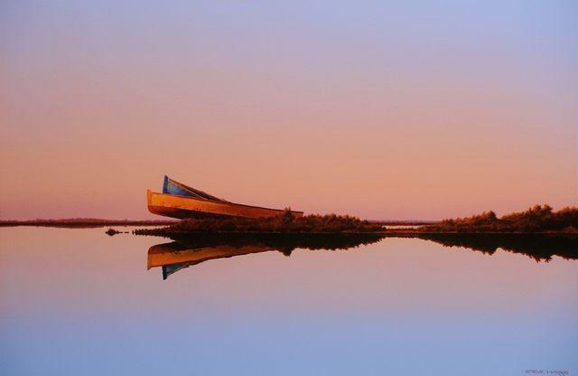 Steve Harris: Boats on the Dunes, 61 x 91cm, Acrylic on canvas