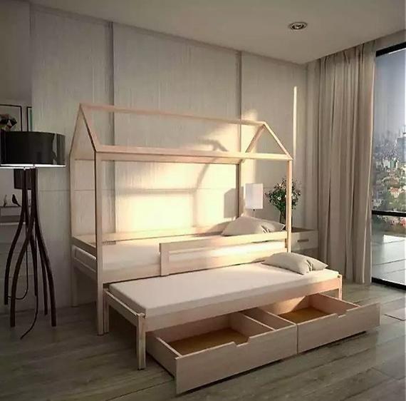Super Multifunktionale Bett Fur Das Baby Zwei Betten Und Zwei Schubladen Und Alle Im Bett Die Hohe Des Ers Bed Tent Montessori Bed Cheap Bedroom Furniture