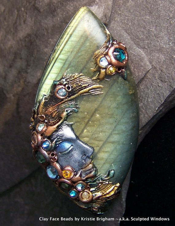 Labradorite and polymer clay... gorgeous
