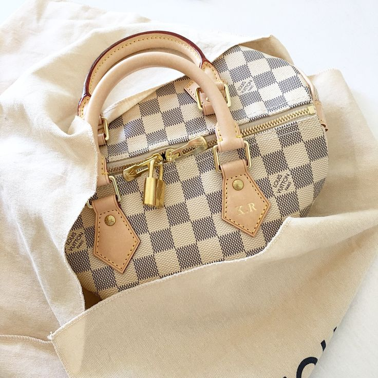 Best Accessories To Wear Everyday. Classic Louis Vuitton Damier Speedy Bag to Tote.