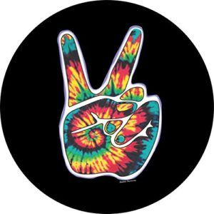Jeep Tie Dye Peace Sign Spare Tire Cover