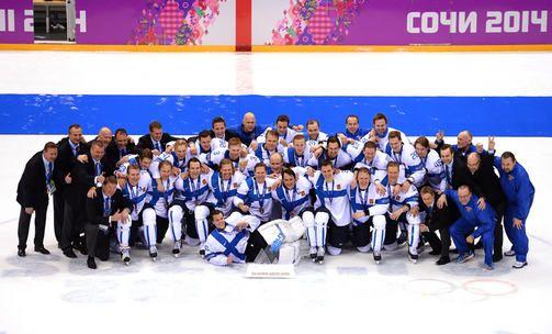 Winter Olympics 2014, Sochi - Ice hockey,  men's bronze medal. --  Näin leijonat juhlivat - katso kuvat   Sotshi 2014   Iltalehti.fi