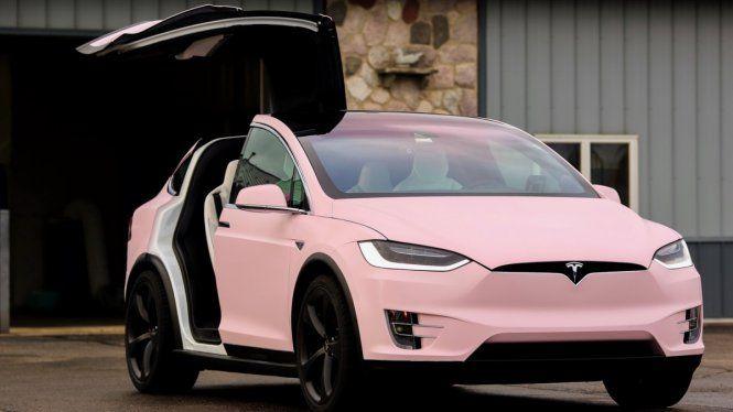 Verity Bubblegum Pink Tesla Model X