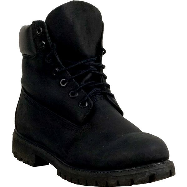 Timberland 6-Inch Premium Waterproof Men's  Boot (615 BRL) ❤ liked on Polyvore featuring men's fashion, men's shoes, men's boots, men's work boots, black nubuck, mens black work boots, mens waterproof boots, mens work boots, mens black boots and mens lightweight waterproof boots