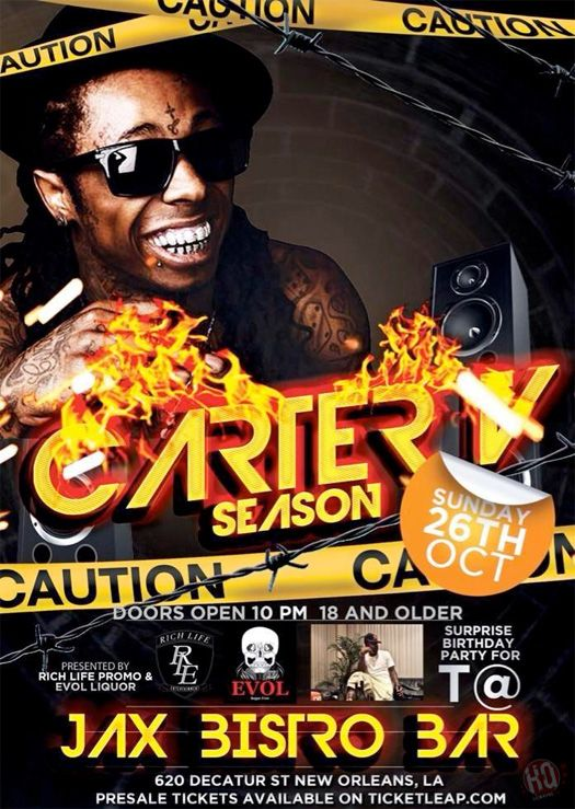 Lil Wayne To Host A Tha Carter 5 Pre-Release Party At Jax Brewery In New Orleans On October 26th