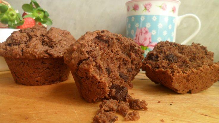 Súper receta vegana, sin azúcar añadido y santísima muffins veganos de chocolate y avena