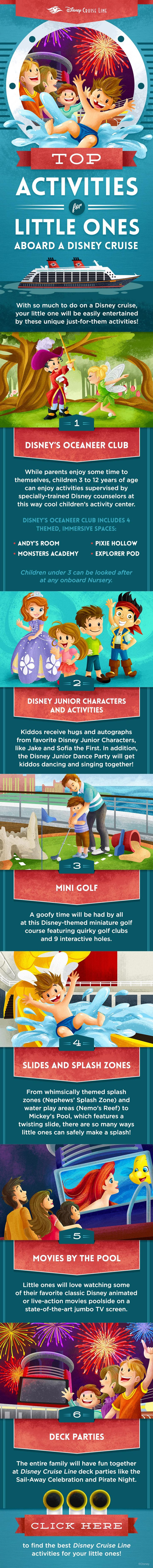 With so much to do on a Disney Cruise, your little one will be easily entertained by these unique just-for-them activities!