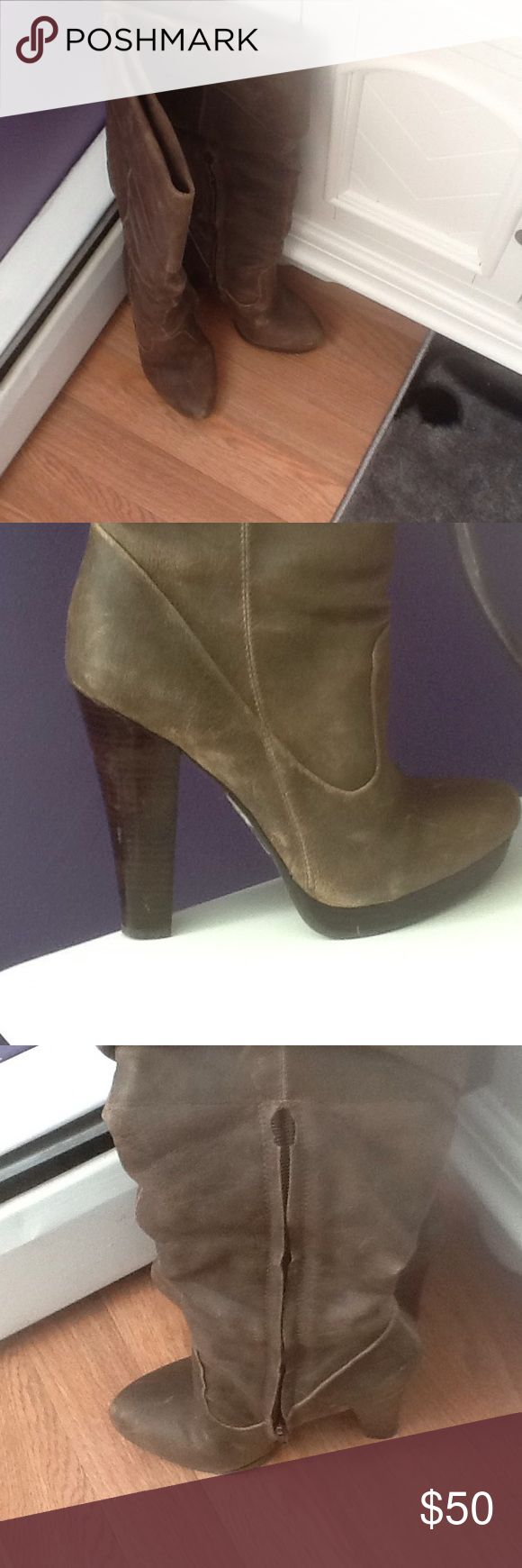 Jessica Simpson JS-tulip boots Jessica Simpson boots size 5.5M color Tobacco waxy gamble distressed finish. Jessica Simpson Shoes Heeled Boots