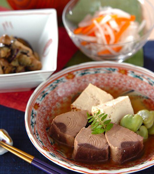 「なまり節と豆腐の炊き合わせ」の献立・レシピ - 【E・レシピ】料理のプロが作る簡単レシピ/2012.05.15公開の献立です。