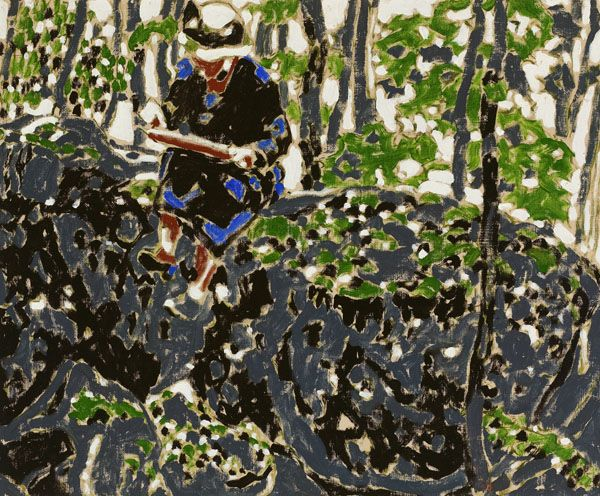 David Brown Milne Canadian, 1882–1953 Woman in Blue, Sketching, 1916 oil on canvas 50.6 x 60.8 cm