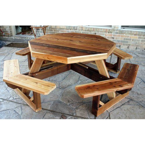 Les 25 meilleures id es concernant plans de table de pique for Table exterieur octogonale