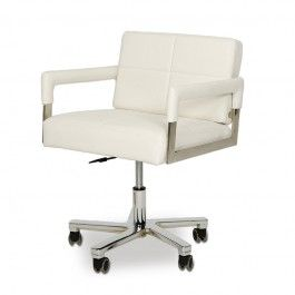Alaska - Modern White Leather Office Chair - 500.0000