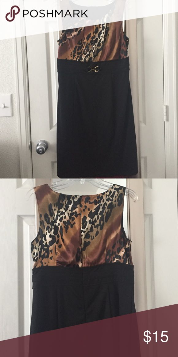 Animal print dress Worn once to church. Great condition. Dresses