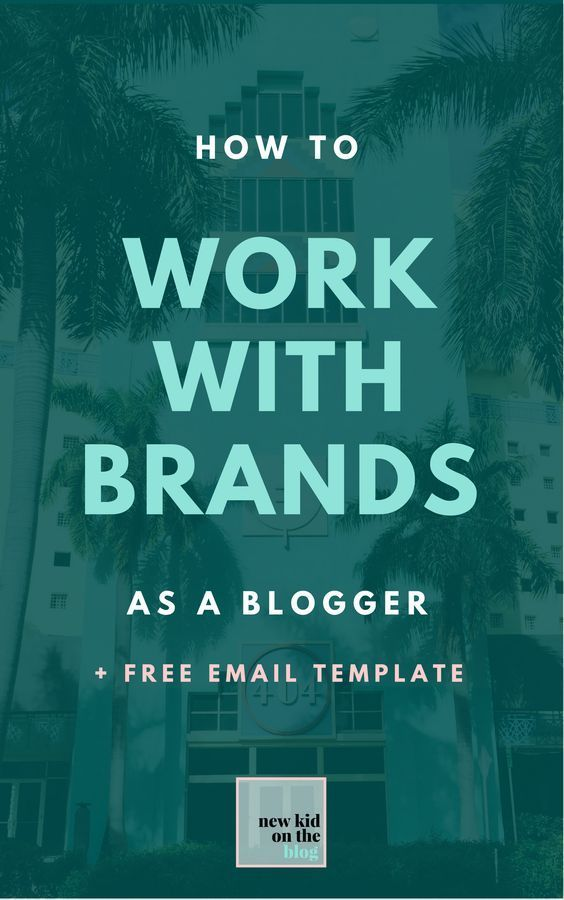 Working with brands is a great way to make a lil cash while you're doing your thing in the blogging world. Whether you want to write a sponsored blog post, social media post, host a giveaway, or create a long-term partnership as an affiliate, reaching out to brands is something you're probably going to want to do some time or another in your blogging lifetime.