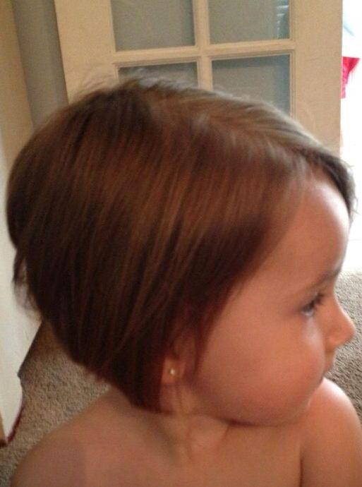 Side View Of Wispy Hair Cut For Toddler Girl Child