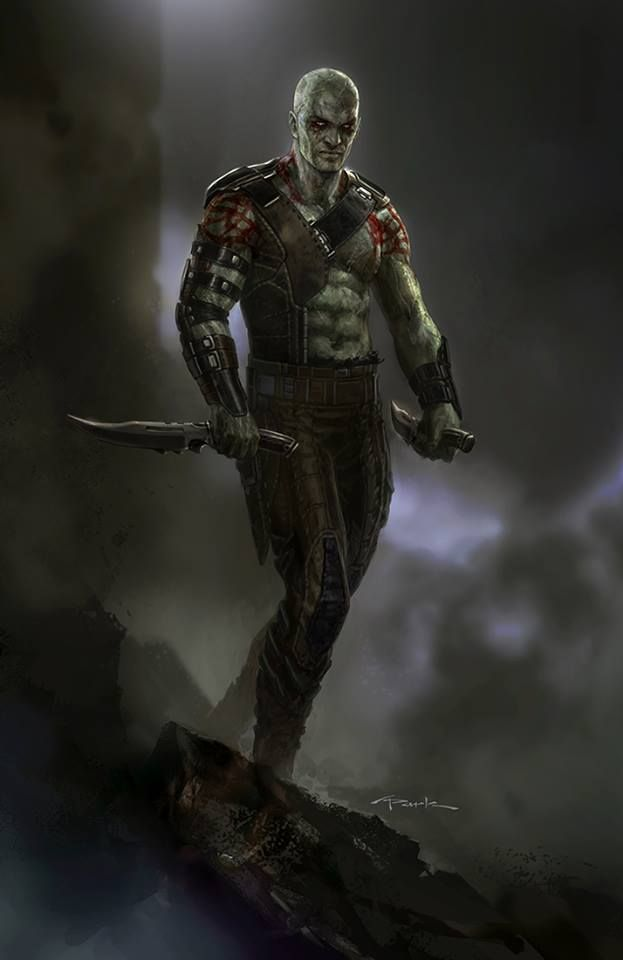 Drax the Destroyer Concept Art for Guardians of the Galaxy