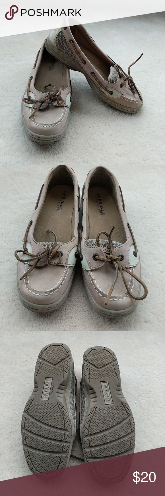 Sperry top-sider angelfish Like new! Perfect neutral shoe! Sperry top-sider angelfish. Worn maybe twice? Leather uppers. Nice sole. No signs of wear just too narrow for me, I wasn't meant to wear Sperry's :( Sperry Top-Sider Shoes Flats & Loafers