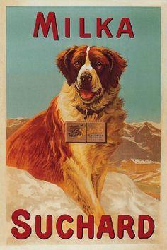 Cárteles antiguos de publicidad- Milka-Suchard 1930