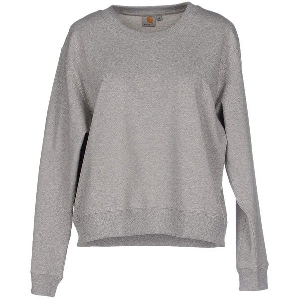 Carhartt Sweatshirt (2.360 RUB) ❤ liked on Polyvore featuring tops, hoodies, sweatshirts, grey, grey sweatshirt, long sleeve tops, long sleeve sweatshirt, carhartt and carhartt sweatshirts