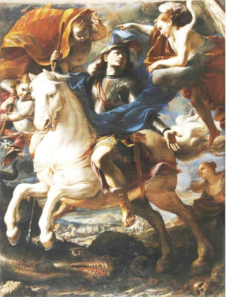Mattia Preti - San Giorgio e il drago – 1665-1658 Cappella della Lingua d'Aragona, Catalogna e Navarra, Concattedrale di S. Giovanni, La Valletta, Malta
