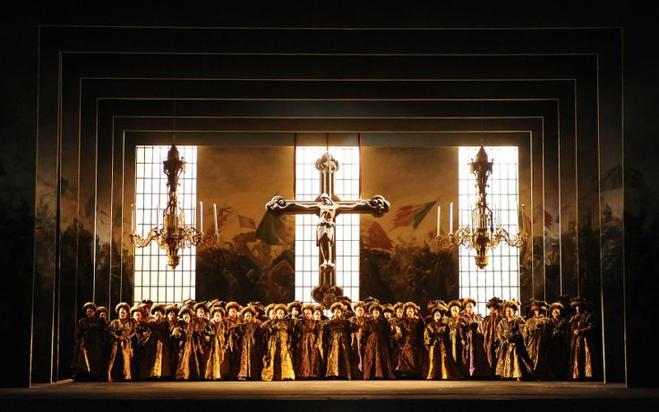 Verdi's Giovanna D'Arco at the Teatro Regio Parma. Directed by Garbriele Lavia. Sets by Alessandro Camera.
