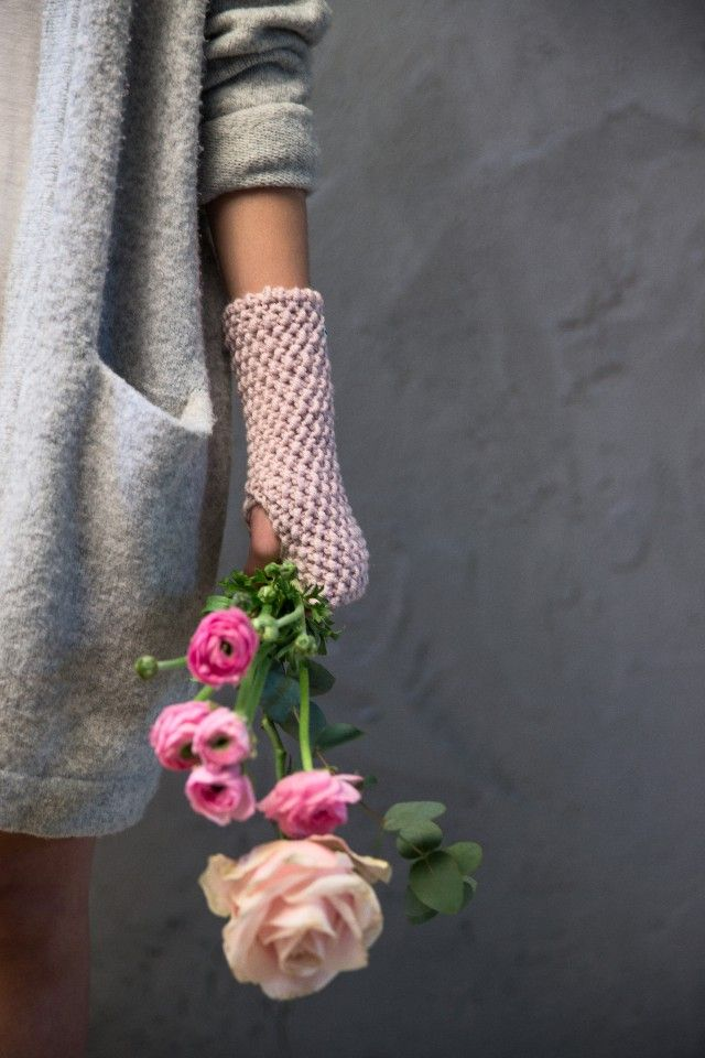 """Pretty Pink"" knitted mittens by Scandinavian Kally & Birger Knitwear - Nordic Design Collective"