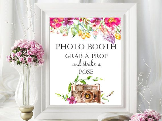 SALE 50% Photo booth printable wedding by PrintableMemoriesCo