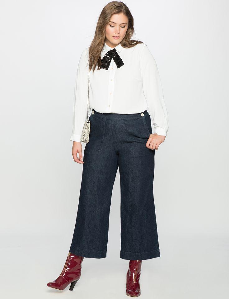 Essential Oxford Shirt | Women's Plus Size Tops | ELOQUII