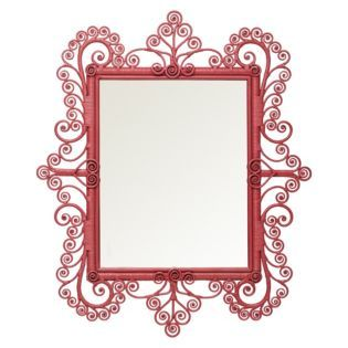 Peacock Scroll Mirror – Tropical Pink