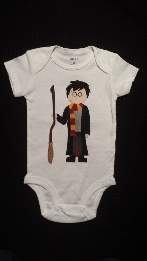 Baby Clothes / Harry Potter With Scarf / Hand by LilacsAndBicycles