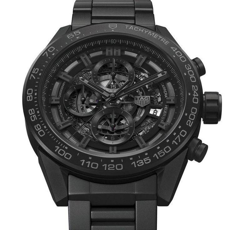 Carrera Heuer-01 Full Black Matt Ceramic - tag heuer   http://wohnenmitklassikern.com/design/baselworld-beste-design-tendenzen-2017/baselworld 2017