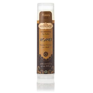 Anointment Natural Skin Care Honey Lip Balm - fragrance-free. Contains coconut oil, apricot kernel oil, beeswax, jojoba oil, grape seed oil, vitamin E. Available @ Anointment (Sackville, New Brunswick) #unscented #scentfree #fragrancefree