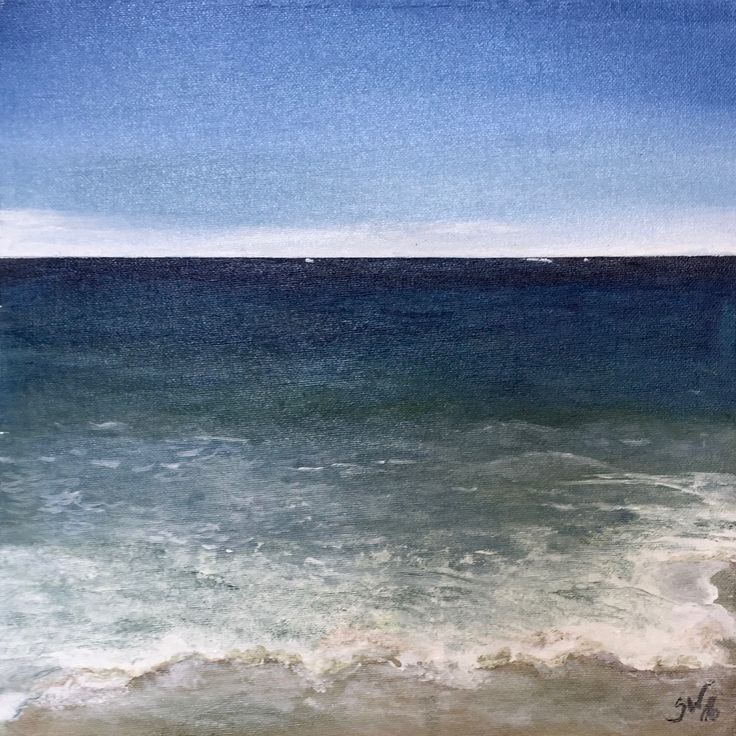 Strand von Sylt Acryl 30x30