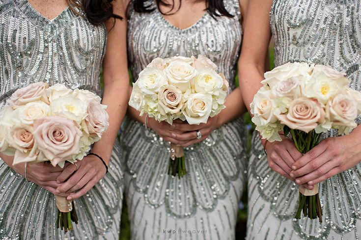 Sparkle bridesmaids - JS Collections Brook and Sherwin | Married © @Kristen - Storefront Life - Storefront Life - Storefront Life Weaver